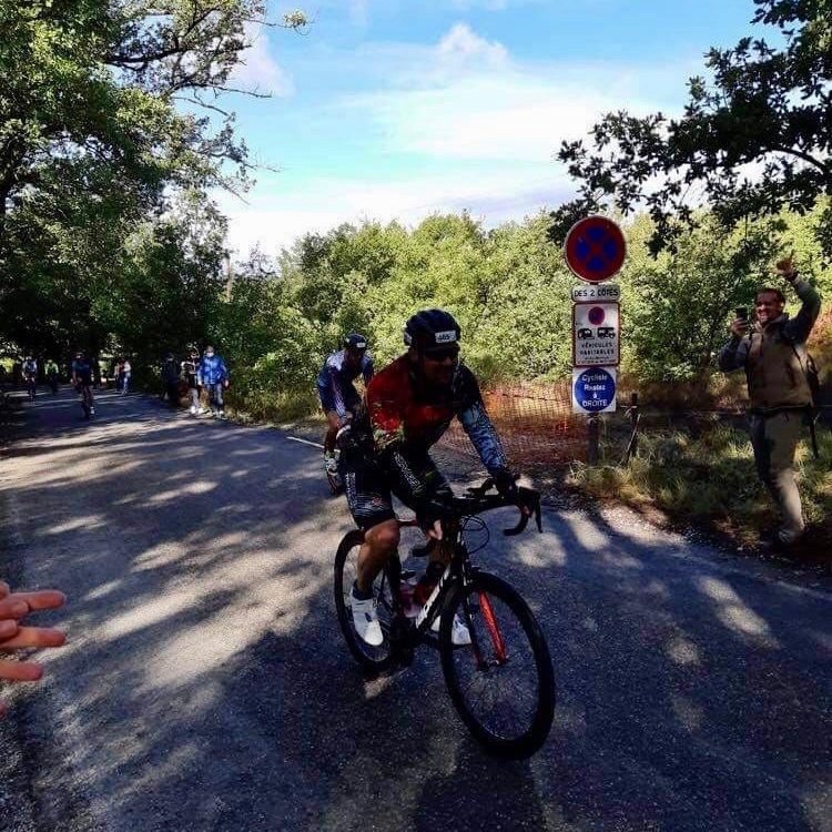 Lionel en vélo